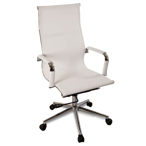 new white modern ergonomic mesh high back executive