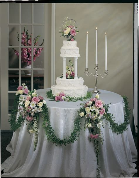 cake table decoration ideas ideas for outdoor winter wedding aisles white and silver