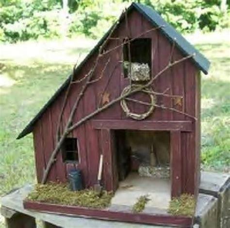 Barn Primitive Birdhouse Rustic Lighted House
