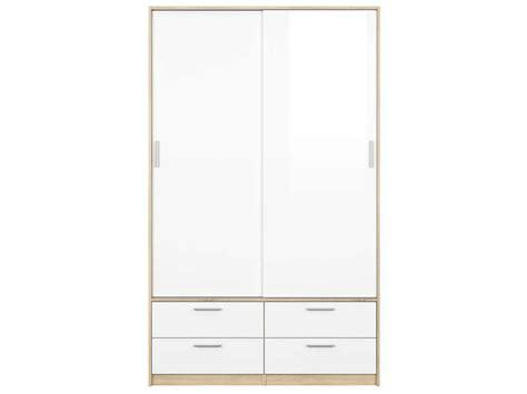 conforama fr chambre armoire 2 portes 4 tiroirs lake coloris blanc chêne