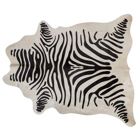 Zebra Cowhide Rugs by Zebra Print Cowhide Rug