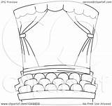 Coloring Theater Outline Cinema Clip Theatre Movie Stage Pages Studio Illustration Royalty Clipart Bnp Rf Template Drawings 1080 Sketch 07kb sketch template