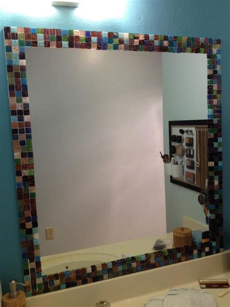 Bathroom Mosaic Mirror Tiles by 31 Ideas Of Using Mosaic Tile Around Bathroom Mirror