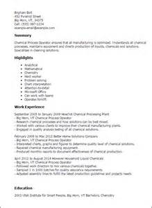 chemical operator resume templates professional chemical process operator templates to showcase your talent myperfectresume