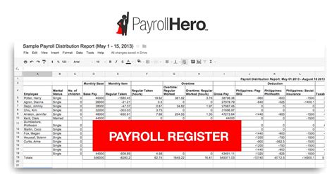 payroll ledger sample pin payroll register template on pinterest