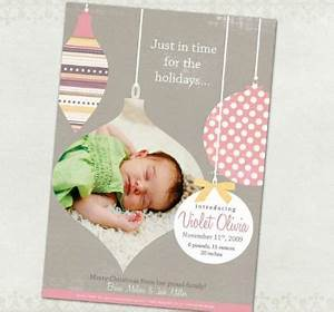 25 best ideas about Christmas Birth Announcements on