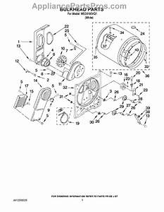 Parts For Whirlpool Wed5100vq1  Bulkhead Parts