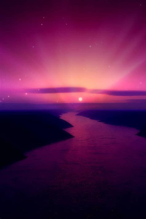 purple  pink sunset wallpaper wallpapersafari