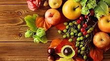 Many autumn products - Fruits wallpaper