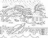 Coloring Natural Disaster Sheets Disasters Hurricane Drawing Nature Printable Hurricanes Tornado Draw Crafts Weather Stories Visit sketch template
