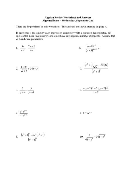 images    hear  worksheet pre algebra