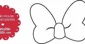 minnie mouse bow template pictures to pin on pinterest With free printable minnie mouse bow template