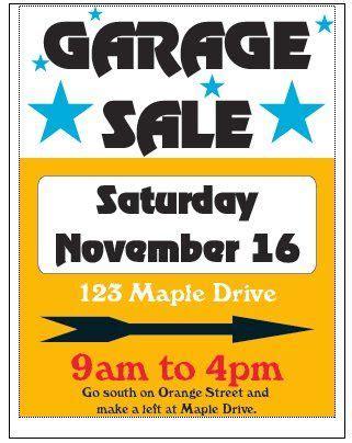 Garage Sale Flyer Template Word by Besten Ideas For The House Bilder Auf Garage Id With Free