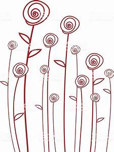 Abstract Red Roses  Vector Background
