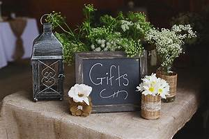 rustic country wedding With wedding gift table ideas