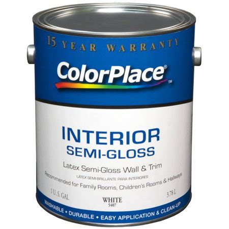 color place interior gloss paint white walmart