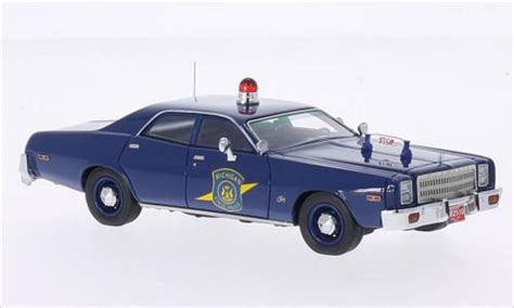 plymouth fury michigan state police  neo diecast model