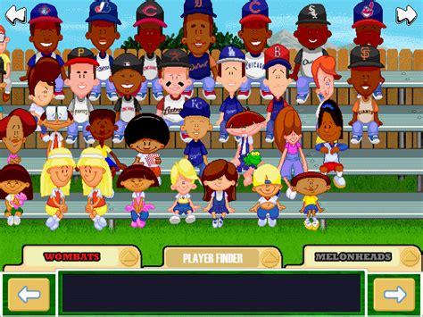 backyard football characters viva la vita backyard baseball 2001 draft