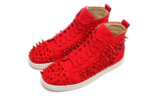 Red Spike Christian Louboutin Men Shoes