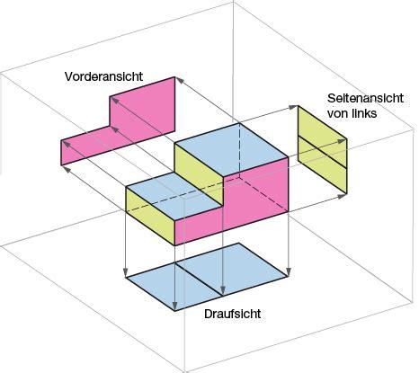 technische zeichnung ansichten grundlagen ansichten