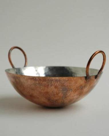 tin lined copper hand hammered wok copper decor copper copper ware