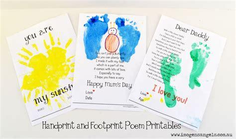 handprint  footprint poem painting kids crafts