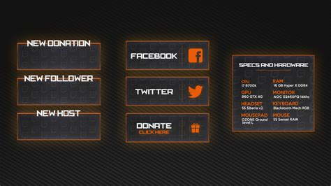 Twitch Panel Template Twitch Panels Panel Templates For Your Twitch Profile