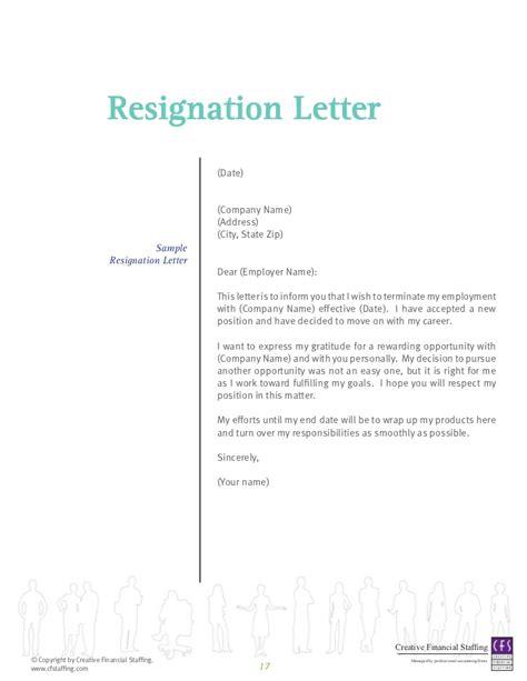 resignation letter due  job dissatisfaction cover