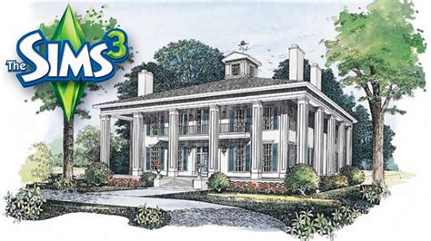 sims  southern colonial house youtube