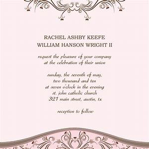 download printable wedding invitation announcement word With free wedding announcement templates for word