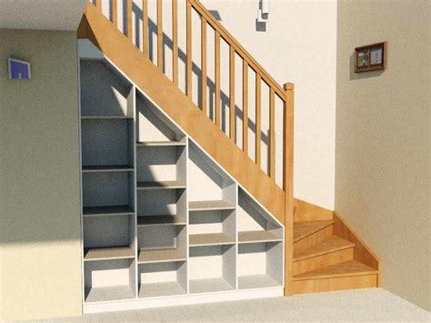 etag 232 re sous escalier compl 232 te avec socle dessus et fond