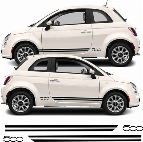 Fiat 500 Decals by Zen Graphics Fiat 500 Side Stripes Quot 500 Quot Decals Stickers