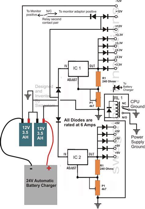 Transformerless Ups Circuit For Computers Cpu Homemade