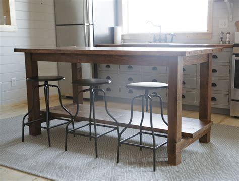 kitchen island table plans white let s build something
