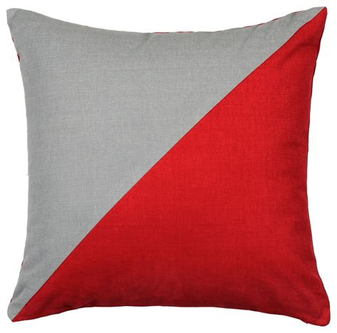 Contemporary Decorative Pillows by Siliver Fern Decor Duo And Grey Throw Pillow Cover