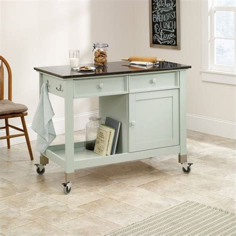 kitchen mobile island mobile kitchen island in rainwater 414385