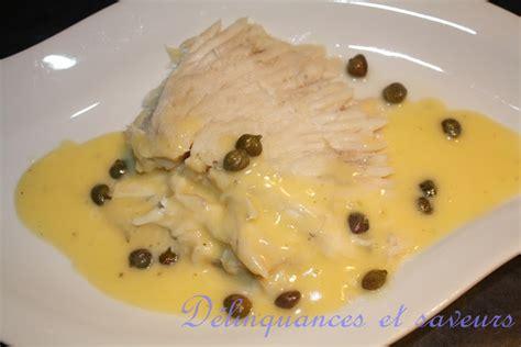 cuisiner une aile de raie délinquances et saveurs ailes de raie beurre blanc aux câpres