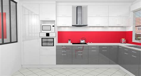 cuisines blanches et grises cuisine gris anthracite et