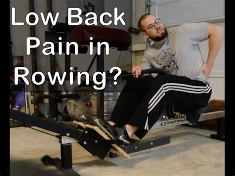 Low Back Pain Rowing Youtube