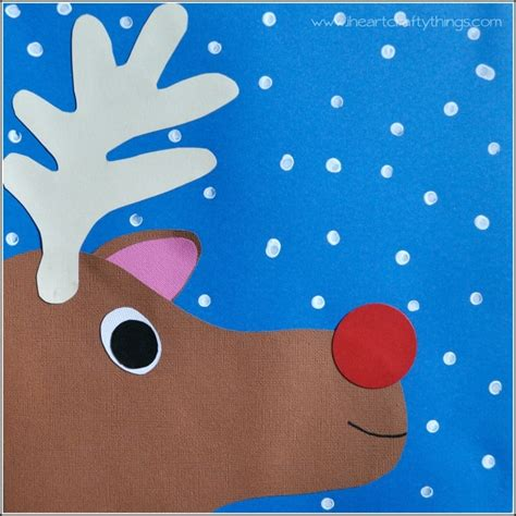 rudolph paper craft for i crafty things 298 | RudolphKidsCraftFinal
