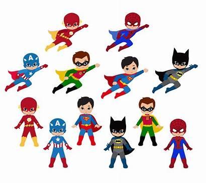 Superhero Clip Cliparts Clipart Super Hero Heroes