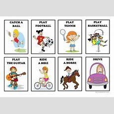 Action Verbs  Flash Cards (set 2) Worksheet  Free Esl Printable Worksheets Made By Teachers