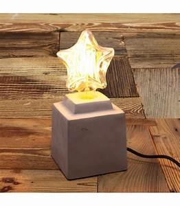 Lampe à Poser Industriel : lampe poser beton naturel pour ampoule a filament edison ~ Teatrodelosmanantiales.com Idées de Décoration
