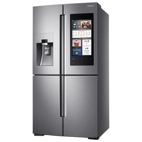 samsung door refrigerators samsung 27 9 cu ft family hub 4 door flex door