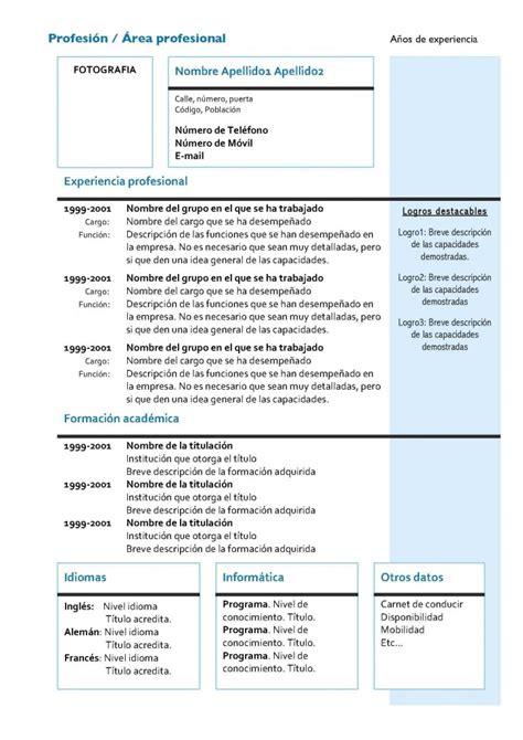 Curriculum Vitae by Curr 237 Culum Vitae Modelo 4 Tienda De Curriculum Vitae