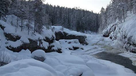 winter finland wilderness oulanka