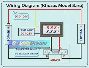 Jual Amperemeter   Voltmeter 100a 100v   Shunt Digital