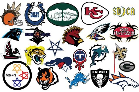 NFL Logos Redesigned In A 'Metal' Style - Daily Snark