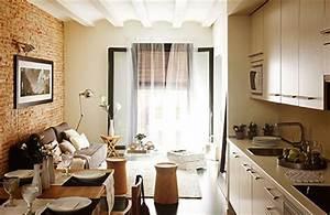Kleine Wohnung Gemütlich Einrichten : stilvoll eingerichtete kleine wohnung in barcelona wohnideen einrichten ~ Bigdaddyawards.com Haus und Dekorationen
