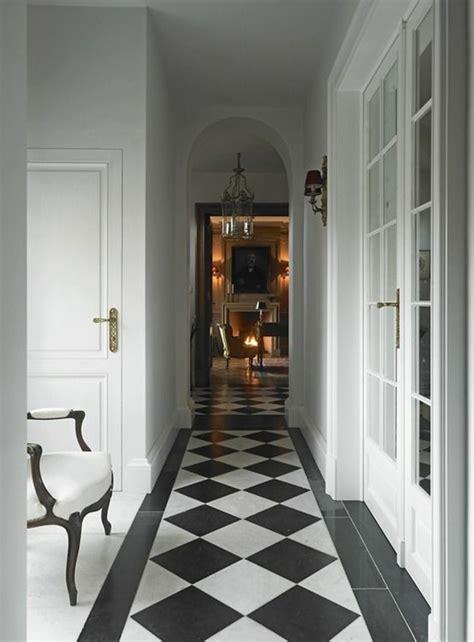 lustre moderne cuisine le carrelage damier noir et blanc en 78 photos archzine fr